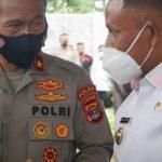 Nanang Sambut Silaturahmi Wakapolda Lampung di Rumah Dinas