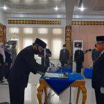 Sekdakab Lampura, Drs. H. Lekok, M.M. Hadiri Pelantikan 49 Pejabat Eselon III Dan IV Di Aula Tapis