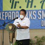 Pertemuan dengan Ketua MKKS SMK/ SMA se-Provinsi Lampung, Gubernur Arinal Ingatkan Peran Kepala Sekolah Vital dan Strategis Tingkatkan Kinerja Sekolah