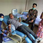 Peringati HUT Kab. Sergai Ke-17 Tahun, PD IWO Baksos Donor Darah di RSUD Sultan Sulaiman