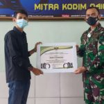 Dandim 0410/KBL Kolonel Inf Romas Herlandes Berikan Piagam Penghargaan Kepada Mediapromoter.id