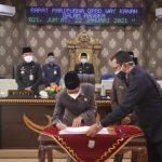 Paripurna DPRD Way Kanan,Penetapan Paslon Bupati Dan Wakil Bupati Terpilih