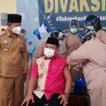 Pemkab Lampura Laksanakan Vaksinasi Perdana Covid-19 Berjalan Lancar