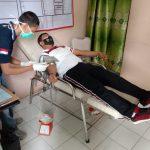 Peduli Sesama, 5 Personel Polres Tulang Bawang Donorkan Darah di RSUD Menggala