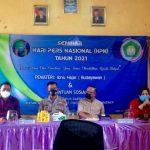 Gandeng Polres dan OSIS Al-Islamiyah Rubaru, IWO Gelar Seminar HPN dan Santunan Anak Yatim