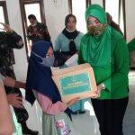 Ketua Persit Kartika Chandra Kirana Cabang KODIM 0421/ LAMPUNG SELATAN XXXIII KUNJUGI RUMAH YATIM AL-AMANAH