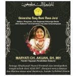 Maryati Ch Akuan, Pendiri Yayasan Pendidikan Saburai Meninggal Dunia