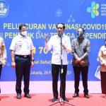 Presiden Tinjau Vaksinasi Massal Tenaga Pendidik dan Kependidikan di SMAN 70 Jakarta