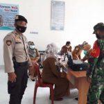 Polsek Negeri Besar Monitoring Vaksinasi Di Puskesmas
