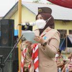 Winarni Pimpin Upacara Pembukaan Diklat Saka Bhakti Husada Angkatan I Lamsel