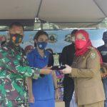 DANBRIGIF 4 MARINIR/BS Menerima Kunjungan Walikota Bandar Lampung Hj. Eva Dwiana, S.E