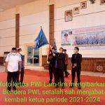 Musannif Efendi Yusnid,SH.MH. Terpilih Aklamasi Ketua PWI Lam-tim pariode 2021-2024.