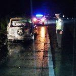 Satlantas Polres Tulang Bawang Identifikasi Penyebab Kebakaran Mobil di Jalan Tol
