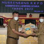 Pemkab Lampura Gelar Kegiatan Musrenbang RKPD TA. 2022 di Ruang Tapis Setdakab