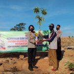 Polres Tanggamus Bersama PT GGP Tanam 100 Pohon Berbuah Dipekon Batu Tegi