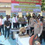Kapolda Lampung Musnahkan 183 Senjata Api Rakitan Di Mapolres Mesuji