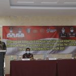 Wabup Pringsewu Buka Pertemuan Sosialisasi Penguatan Dukungan, Komitmen & Monitoring Vaksinasi Covid-19 TNI-Polri