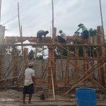Proses pembangunan Mushola Ar-Rahman desa Kartaraya, Tubaba