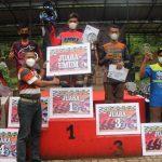Bupati Pesawaran Tutup event Grasstrack Piala Danbrigif 4 Mar/BS di sirkuit Beruang Hitam