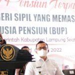 Pemkab Lampung Selatan Gelar Sosialisasi Layanan Pensiun Terpadu Bagi 237 PNS, Nanang : Jangan Putus Mengabdi
