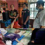 Prihatin, AWPI Tanggamus Kunjungi Abriandi Warga Pasar Madang Penderita Diabetes