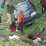 Mobil Terguling di Lamsel, 3 Korban Tewas