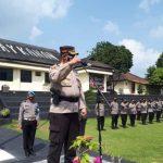 Jelang Pam Pilkakam Serentak 2021,Kapolres Tegaskan Personil Tetap Patuhi Prokes