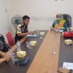 Audiensi di Dinas Tenaga Kerja, LSM GMBI Lampung Selatan Mendampingi Tenaga Kerja PT SAN XIONG STEEL
