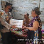 Sambut HUT Bhayangkara ke-75 Polsek Bunga Mayang Santuni Terhadap Sesama