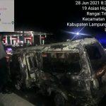 Satu Unit Mobil Terbakar Di SPBU Rangai