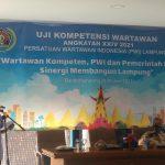 Ciptakan Wartawan Profesional PWI Lampung Ikuti Uji Kompetensi