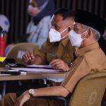 Bupati Pringsewu Ikuti Rapat Konsolidasi Penanganan Covid-19 se-Provinsi Lampung