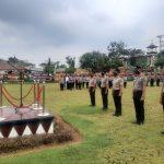 Bertepatan Hari Bhayangkara Ke-75, Sebanyak 42 Personel Polres Lampura Naik Pangkat