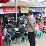Polres Tulang Bawang Sukses Vaksinasi Ribuan Warga di 5 Lokasi Berbeda Dalam Sehari