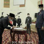 Rapat Paripurna DPRD Tuba Dalam Rangkaian HUT RI ke -76 dan Pelantikan PAW DPRD