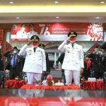 Pemkab Lampung Selatan Ikuti Detik-detik Proklamasi Kemerdekaan RI ke-76 Secara Virtual