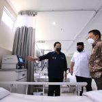 Dua Menteri Kunjungi Lampung Tinjau Kesiapan Rumah Sakit Darurat COVID-19