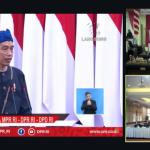 HUT RI Ke-76, Bupati Lampung Selatan dan Forkopimda Saksikan serta dengarkan Pidato Kenegaraan Presiden Jokowi