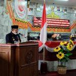 Sekda Lampura Drs. Hi. Lekok, MM. Hadiri Sidang Paripurna di DPRD Tentang KUA-PPAS TA. 2022