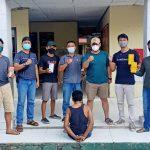 Pelaku Curat Counter HP di Kampung Suka Bhakti Ditangkap Polsek Penawartama