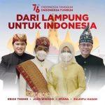 Jokowi Dan Erick Tohir Kenakan Pakaian Adat Lampung Di HUT RI Ke 76