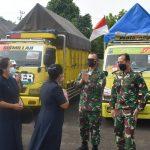 KomandanKodim 0410/KBL Kolonel Inf Romas Herlandes, S.E.,M.Si.,M.M., menghadiri acara penyerahan bantuan