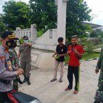 Cegah Covid-19, Tim Gabungan Koramil 427/BLU Tertibkan Prokes