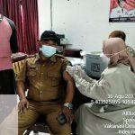 Pemerintah Desa Srikaton Kecamatan Tanjung Bintang, Berikan Vaksin Tahap Pertama Untuk 200 Warganya