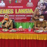 Dewi Handajani Canangkan Gemes Lansia di Kabupaten Tanggamus