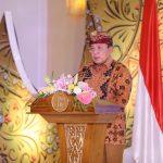 Gubernur Arinal Sampaikan 3 Sub Sektor Pariwisata Andalan Lampung di Depan Menpar Sandiaga Uno dan Menkop Teten Masduki dalam Pembukaan Lampung Begawi