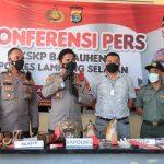 Polres Lamsel, Berhasil Gagalkan Penyelundupan Kulit Harimau Sumatera dan Hewan Dilindungi