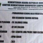 """Diduga Proyek Pembangunan Balai Nikah dan Manasik Haji KUA Kecamatan Tanjung Bintang Bermasalah, """" DPD FPK Lampung Akan Laporkan Ke Kejati""""."""