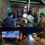Polres Lampura Bubarkan Aksi Warga Sweeping Truck Batu-Bara di jalan lintas tengah Sumatera