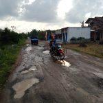 Puluhan Tahun Rusak Parah, Jalan Penghubung Tiga kecamatan Di Lamsel Rusak Parah